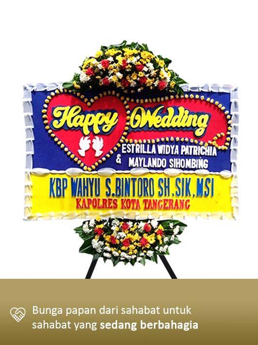 Karangan Bunga Wedding 01