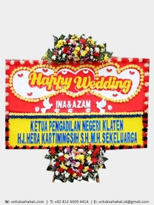 Karangan Bunga Wedding 05