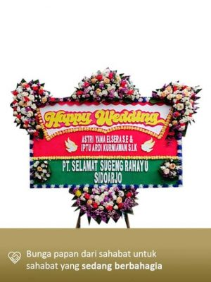 Karangan Bunga Wedding Bandung 04