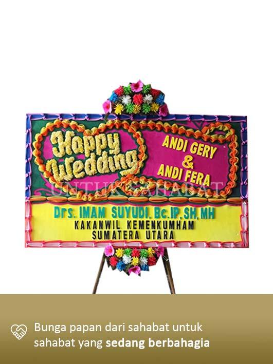 Karangan Bunga Wedding Makassar 01