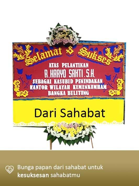 Papan Bunga Congratulation Pangkal Pinang 04