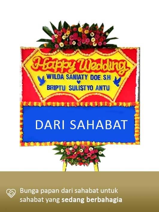 Papan Bunga Wedding Gorontalo 01