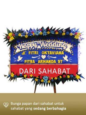 Papan Bunga Wedding Kendari 01