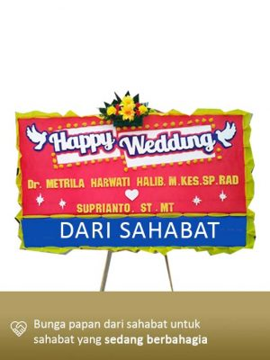 Papan Bunga Wedding Kendari 04
