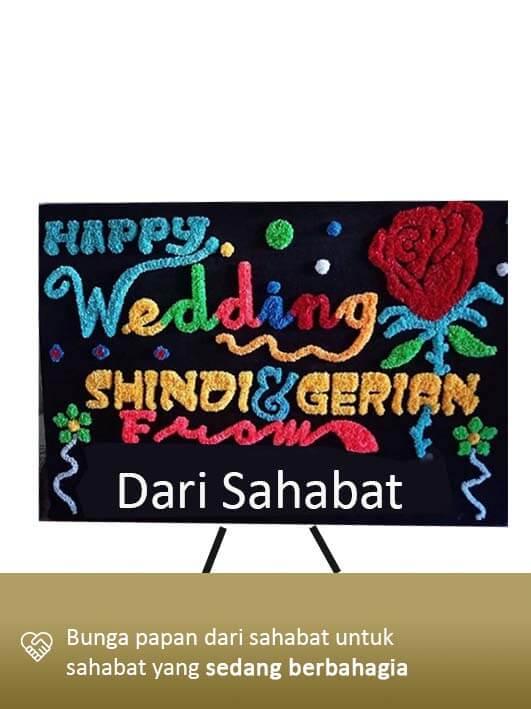 Papan Bunga Wedding Lampung 04