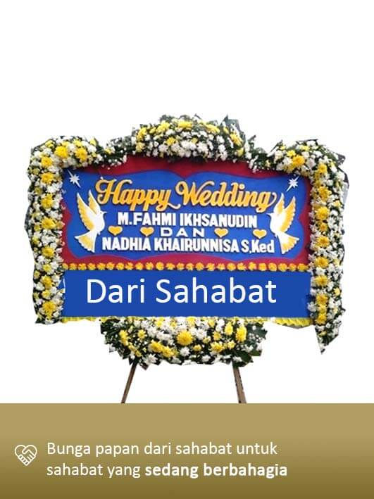 Papan Bunga Wedding Lampung 08