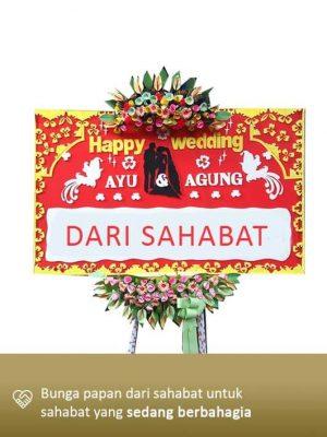 Papan Bunga Wedding Mataram 02