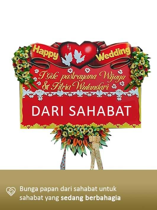 Papan Bunga Wedding Mataram 04