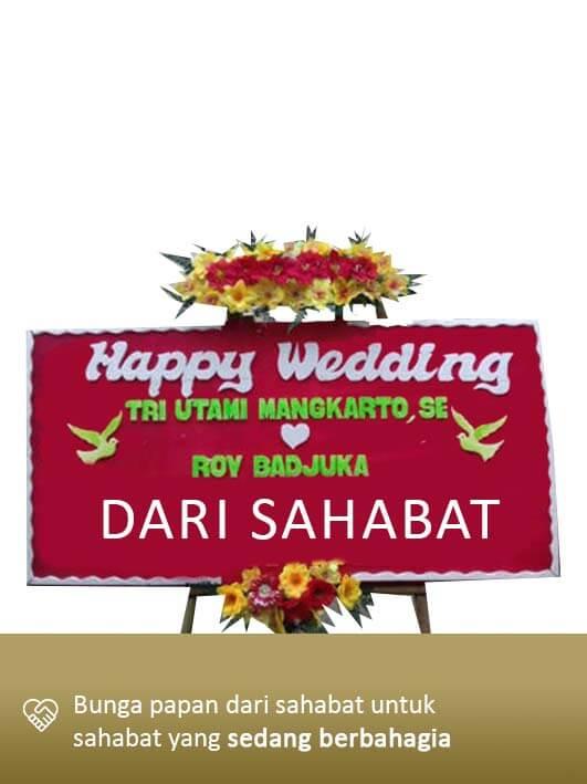 Papan Bunga Wedding Manado 02