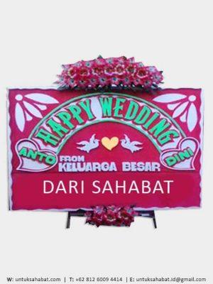 Papan Bunga Wedding Manado 03