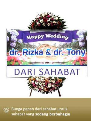 Papan Bunga Wedding Palangkaraya 01