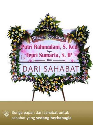 Papan Bunga Wedding Palangkaraya 02