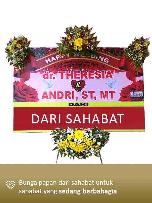 Papan Bunga Wedding Palangkaraya 05